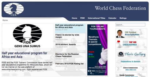 Il sito della FIDE al 7 di Febbraio